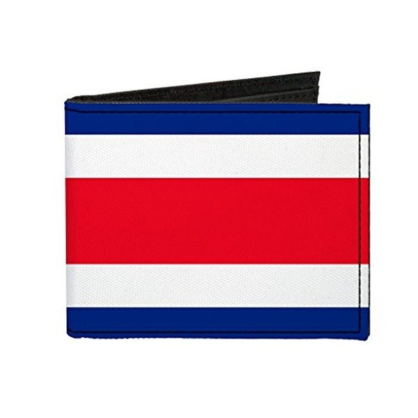 Buckle-Down Canvas Bi-fold Wallet - Costa Rica Flag Accessory