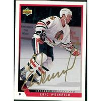 Signed Weinrich Eric New Jersey Devils 1993 Upper Deck Hockey Card autographed