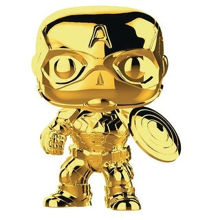 "FunKo POP! Marvel Studios 10 Gold Captain America 3.75"" Vinyl Figure - multi"
