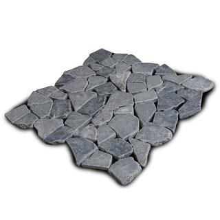 Miseno MT-R3RGY Seamless Mosaic Natural Stone Tile (9.68 SF / Carton) - gray - N/A