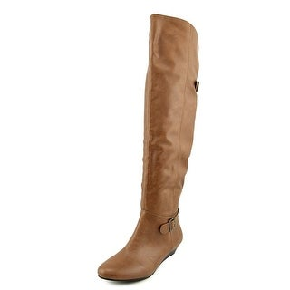 Style & Co Horray Women  Round Toe Synthetic Tan Knee High Boot