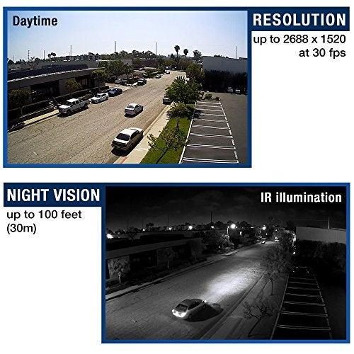 Trendnet Indoor/Outdoor 4 Megapixel, Motorized Varifocal Poe Ir Network Camera, Auto-Focus, Optical Zoom, Digital Wdr, N