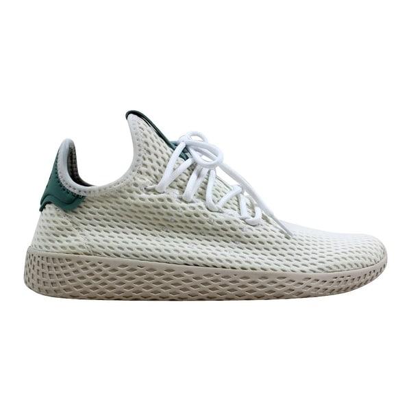 1ce438fc1b673 Adidas Pharrell Williams Tennis Hu J Light Green White Grade-School CP8878  Size 6.5