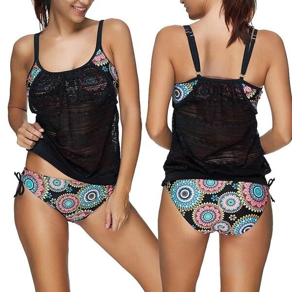 a51a35b3ddd1 Shop Plus Size 2018 Hot Tankini Women Swimsuit Bikini Set Padded Swimming  Suit Two Piece Swimwear Beach Bathing Suits Ladies Biquini - Free Shipping  Today ...