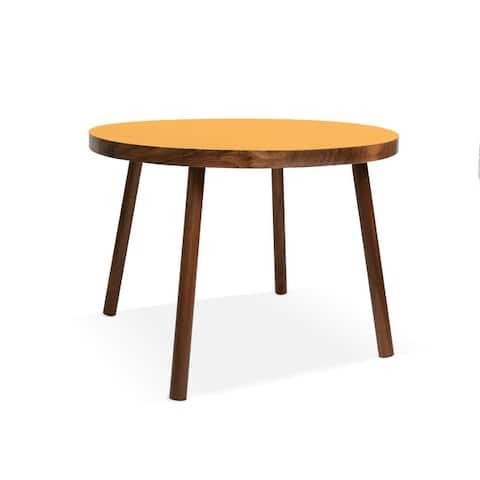 """Nico & Yeye Poco Small Round Walnut 23.5"""" Kids Table"""