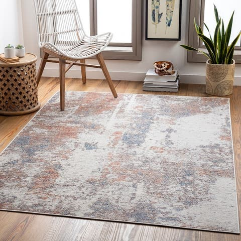 Doville Indoor/ Outdoor Abstract Area Rug