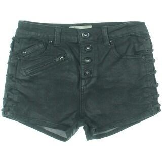 Free People Womens Denim Coated Denim Shorts