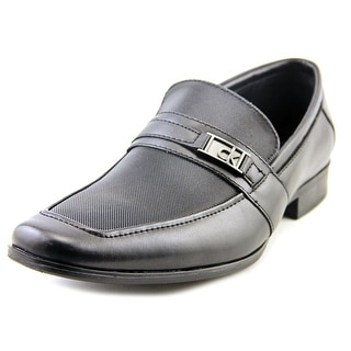 Calvin Klein Bartley Men Apron Toe Leather Black Loafer