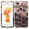 Insten Lace Flowers Tuff Hard PC/ Silicone Dual Layer Hybrid Rubberized Matte Case Cover For Apple iPhone 7 Plus - Thumbnail 3