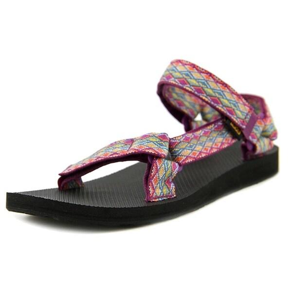 Teva Original Universal Women Open-Toe Canvas Multi Color Sport Sandal