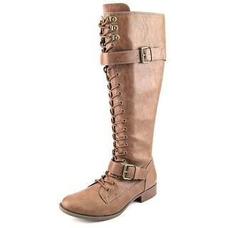 Rocket Dog Kveta Women W Round Toe Synthetic Brown Knee High Boot