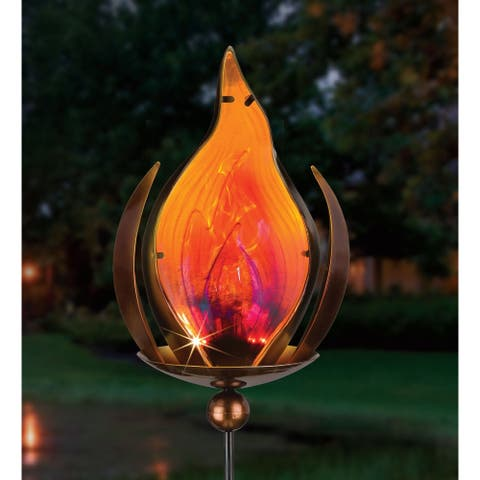 Bronze Blaze Solar Stake
