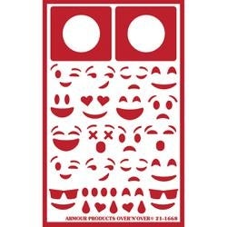 Emojis -Over N Over Stencil