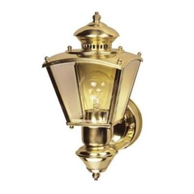 Heath Zenith HZ-4150-PB Motion Sensor Coach Light, Polished Brass