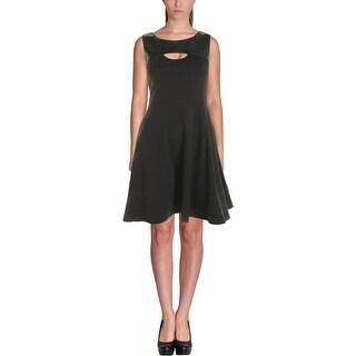 Dylan Gray Womens Evening Dress Mixed Media Peek-A-Boo