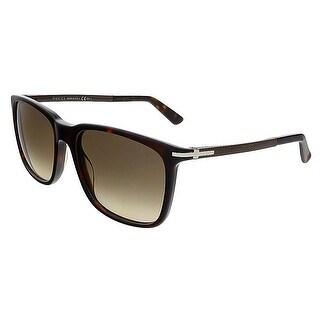 Gucci GG1104/S GYX CC Havana Brown Rectangular Gucci Sunglasses