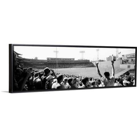 """""""Fenway Park Boston Massachusetts"""" Black Float Frame Canvas Art"""