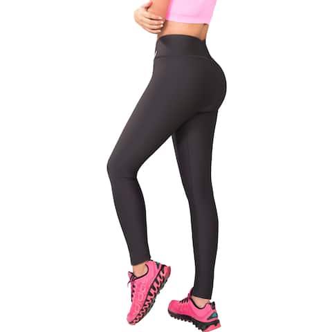 Butt Lifter Leggings Internal High Rise Body Shaper Powernet Levanta Cola Colombianos Dark Gray 400GG by Fiorella Shapewear