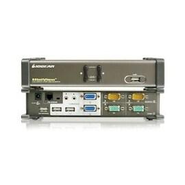 IOGEAR KVM Switch GCS1742 2-Port Dual View KVM Switch w/Audio and USB Peripheral Sharing
