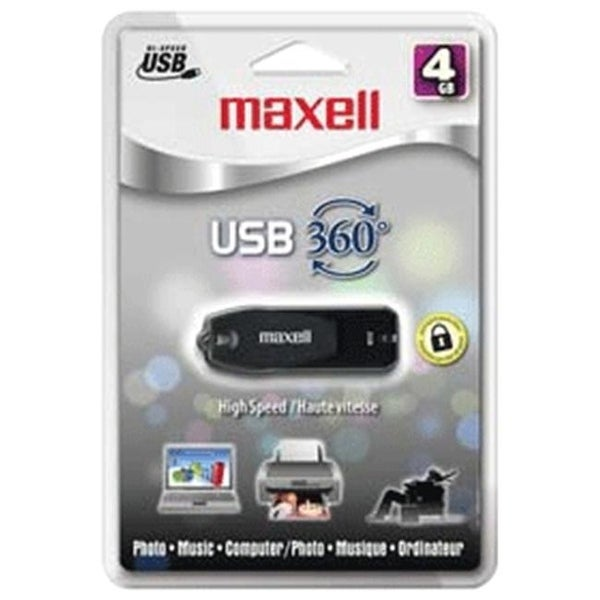 MAXELL MEDIA 503201 4 GB High Speed USB 360 Drive