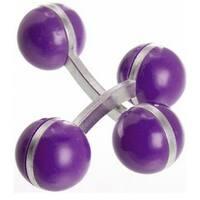 Double Ball Cufflinks Purple