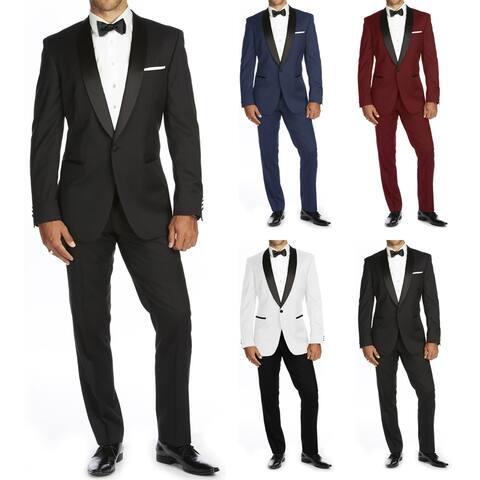 Braveman Men's Shawl Lapel Runway Tuxedo