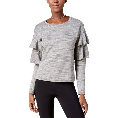 Bar Iii Womens Tiered Sleeve Basic T-Shirt