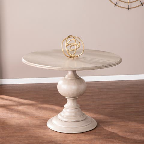 The Gray Barn Brandison Traditional Round Wood Dining Table