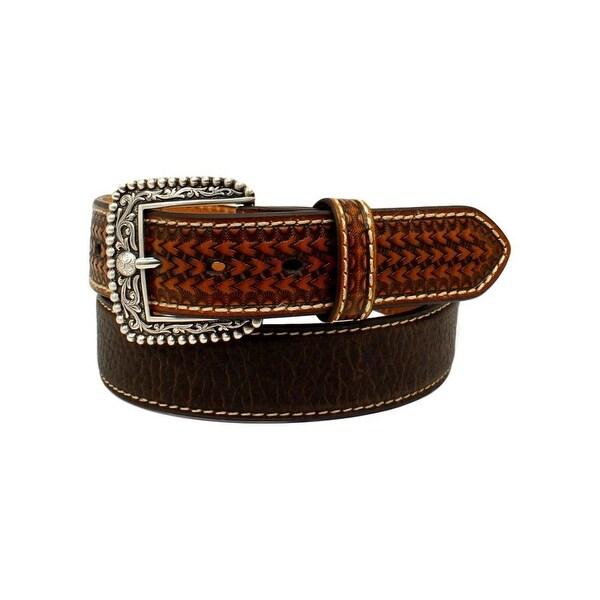 Ariat Western Belt Mens Basketweave Stitched Removable Buckle
