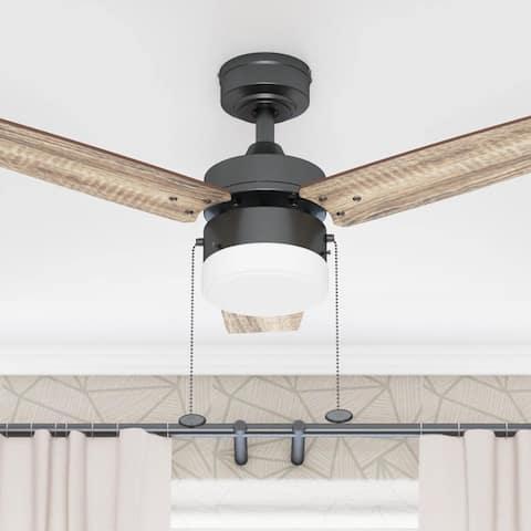 Copper Grove Glenfaba 42-inch Espresso Ceiling Fan with 3 Barnwood Blades