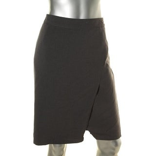 Laundry by Shelli Segal Womens Faux Wrap Above Knee Pencil Skirt