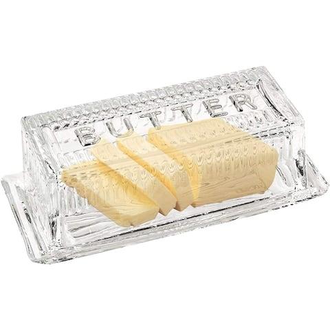 Bezrat Glass Butter Dish