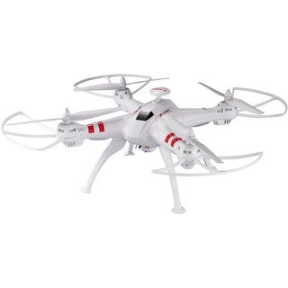 Worryfree Gadgets - Drone-X15w-Wht Fpv Large Rc Quadcopter Toy With 2Mp Wifi Live Camera, White