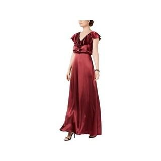 Adrianna Papell Womens Evening Dress Formal Satin
