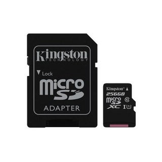 Kingston - 256Gb Microsdxc Canvas Select 80R Cl10 Uhs-I Card + Sd Adapter