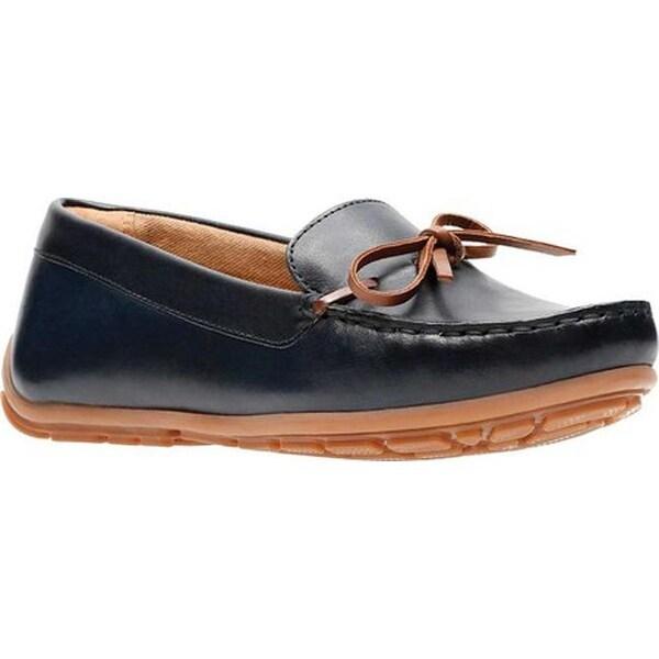 f513e58913f9 ... Women s Shoes     Women s Loafers. Clarks Women  x27 s Dameo Swing  Driving Moc Navy Full Grain Leather