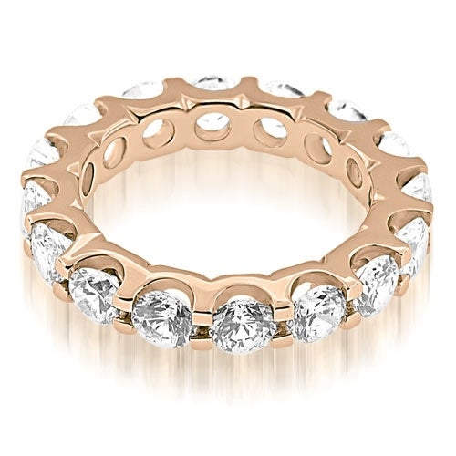 4.00 cttw. 14K Rose Gold Classic U-Prong Round Cut Diamond Eternity Band Ring