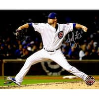 Jon Lester Chicago Cubs 2016 World Series Action 8x10 Photo