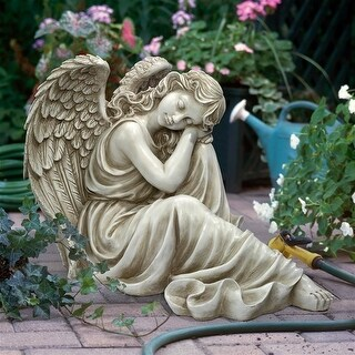 HARMONY AT EASE ANGEL STATUE DESIGN TOSCANO angel statue outdoor angel statue