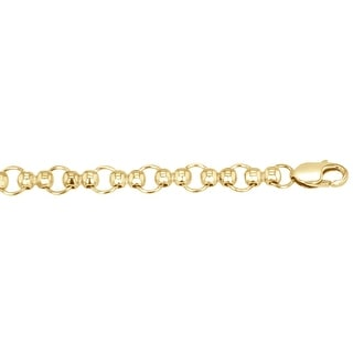 Men's 14k Yellow Gold Fancy Link Chain, 18""