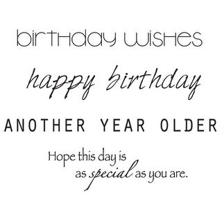 """Mini Clear Stamps 2.25""""X3""""-Birthday Words"""