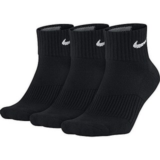 Nike Unisex Performance Cushion Quarter Training Socks (3 Pair)