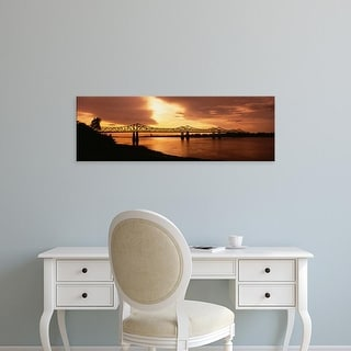 Easy Art Prints Panoramic Image 'Bridge across a river, Mississippi River, Natchez, Mississippi, USA' Canvas Art