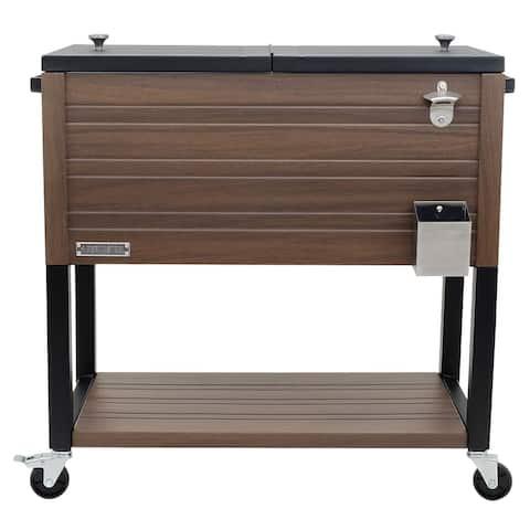 Permasteel 80 Qt. Rustic Furniture Style Patio Cooler