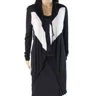 INC NEW Black White Women's Size Small S Colorblock Cardigan Sweater