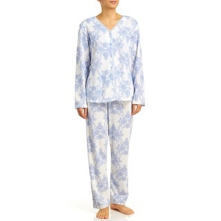 Body Touch Women's Brushed Back Print Pajamas