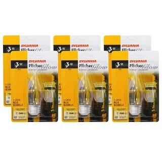 SYLVANIA Flicker Glow 3-Watt Bulb 6-Pack (Medium Base)