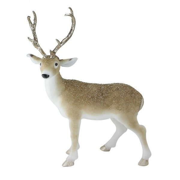 "22"" Nature's Luxury Golden Brown Standing Deer Christmas Figure Decoration"