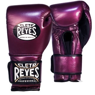 Cleto Reyes Hook and Loop Leather Training Boxing Gloves - Purple (3 options available)