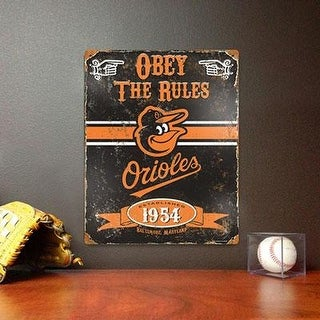 Party Animal Mlb Embossed Metal Vintage Pub Signs,Baltimore Orioles